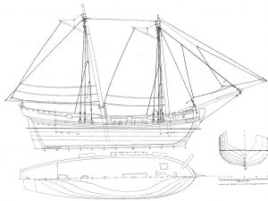Sloop Ferret 1711 ship model plans