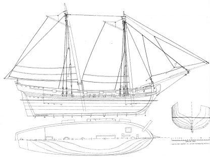 Sloop Ferret 1711 ship model plans