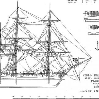 Sloop HMS Pelican 1795 ship model plans
