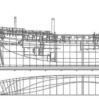Sloop HMS Swift (1763) ship model plans