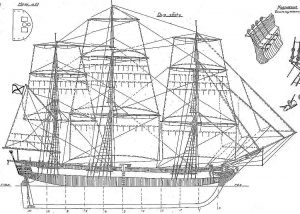 Sloop Mirny 1818 ship model plans