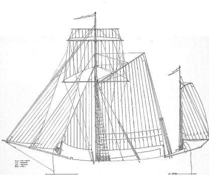 Sloop Smak 1775 ship model plans