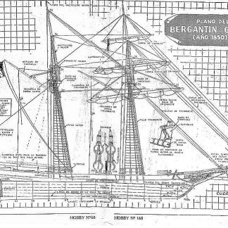 Topsail Schooner 1850 ship model plans