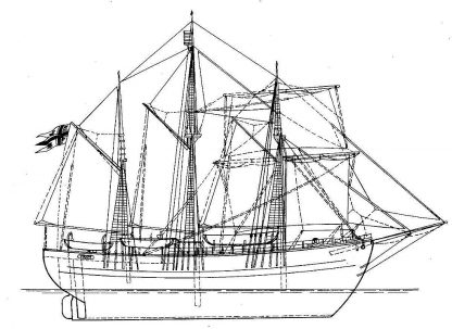 Topsail Schooner Fram 1892 ship model plans