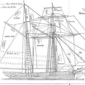 Topsail Schooner Leonie Celine 1866 ship model plans