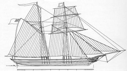 Topsail Schooner Matchless 1846 ship model plans