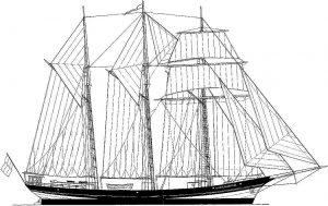 Topsail Schooner Oosterschelde 1918 ship model plans