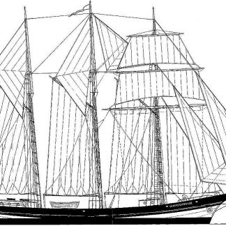 Topsail Schooner Oosterschelde 1918 ship model plans