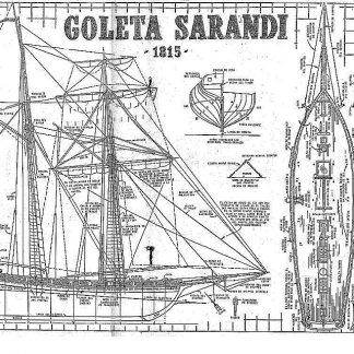 Topsail Schooner Sarandi 1815 ship model plans
