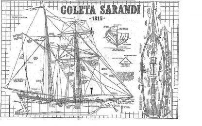 Topsail Schooner Sarandi 1815 ship model plans