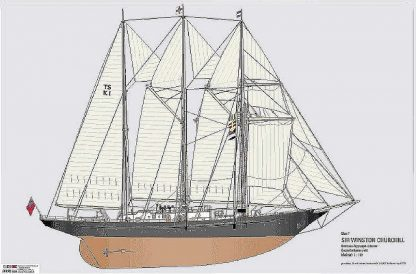 Topsail Schooner Sir Winston Churchill 1966 ship model plans