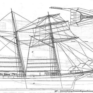 Topsail Schooner Vaquero 1852 ship model plans