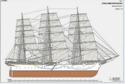 Training Ship Deutschland 1927 ship model plans
