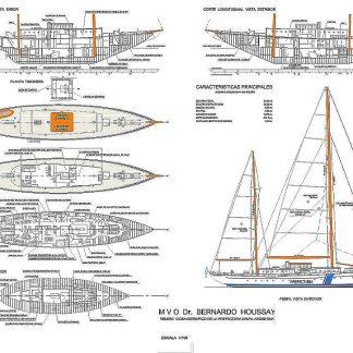 Training Ship El Bernardo Houssay 1930 ship model plans