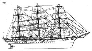 Training Vessel Druzhba 1987 ship model plans