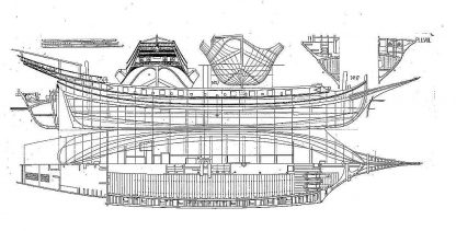 Xebec Algerian 1830 ship model plans
