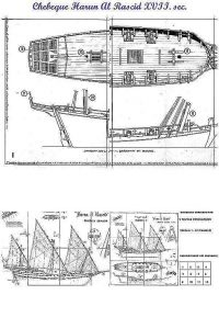 Xebec Harun El Rascid ship model plans