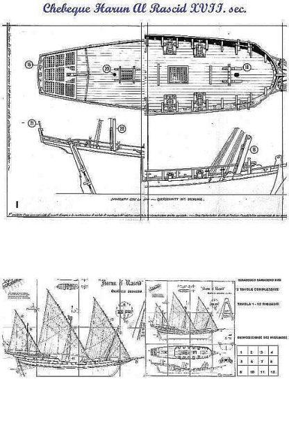Xebec Harun El Rascid ship model plans