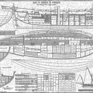 Xebec Le Boberach 1880 ship model plans