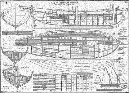 Xebec Le Boberach 1880 ship model plans