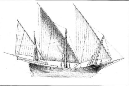 Xebec (Mediterranean) Xviii ship model plans