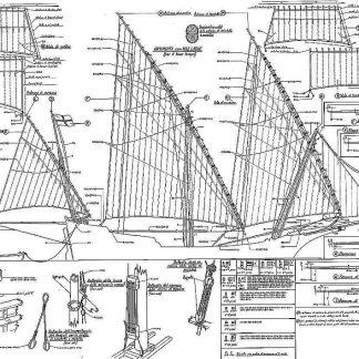 Xebec Sailboat Greek Sacovela ship model plans