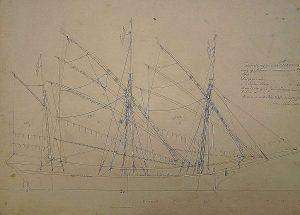 Xebec Turkoma 1767 ship model plans