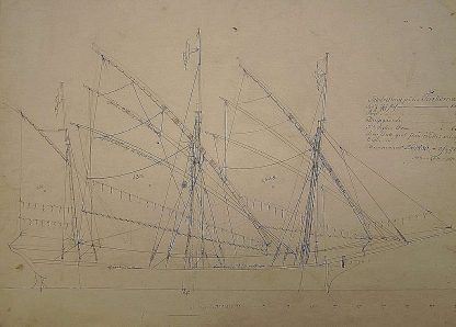 Xebec Turkoma 1767 ship model plans