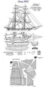 Yacht Armed Neva 1831 ship model plans