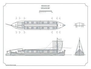 Barge Bogoshajo ship model plans