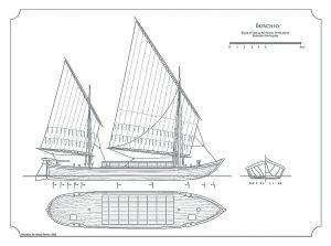 Barge Burchio ship model plans