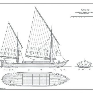 Barge Burchio ship model plans