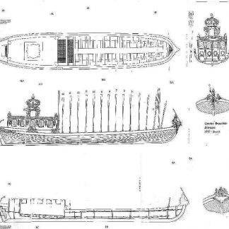 Barge Canot Imperial 1811 ship model plans