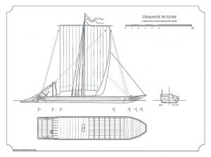 Barge Chalande De Loire ship model plans