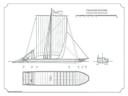 Barge Chalande De Loire ship model plans