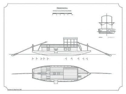 Barge Desdemona ship model plans