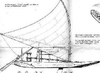 Barge Jangada (Brasilian) ver1 ship model plans