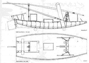 Barge Jangada (Brasilian) ship model plans