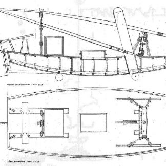 Barge Jangada (Brasilian) ship model plans