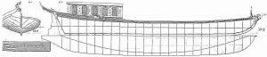 Barge Royal 1750 ship model plans