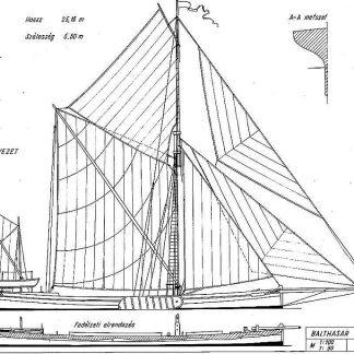 Barge Thames Sailing Balthasar XIXc ship model plans