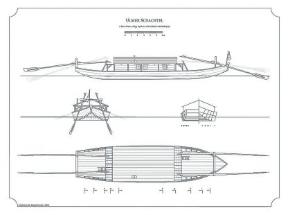 Barge Ulmer Schachtel ship model plans