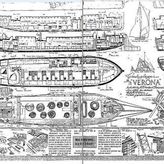 Barge Verona 1905 ship model plans