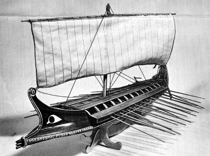 Bireme (Greek) Bc 480 ship model plans