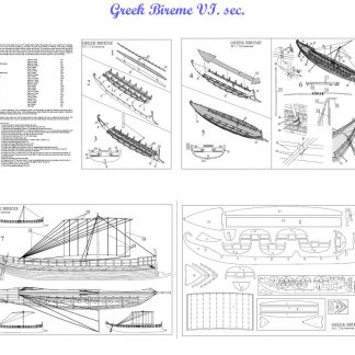 Bireme Greek VIc 72 ship model plans