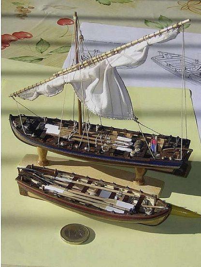 Boat Lifeboat Santissima Trinidad ship model plans