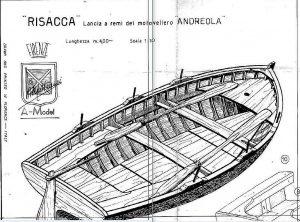 Boat Risacca ship model plans