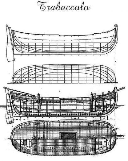Boat Trabaccolo ship model plans