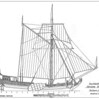 Boeier Grosse Yacht Kolberg 1678 ship model plans