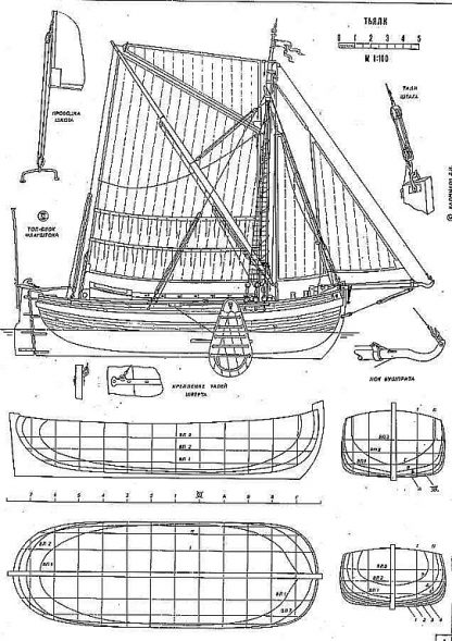 Boeier Yacht Dutch ship model plans